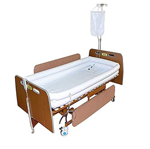 Conjunto de bañera de ducha inflable médica, sistema de ducha de cabecera portátil, ayuda de baño fácil en la cama para discapacitados, ancianos, postrados en cama