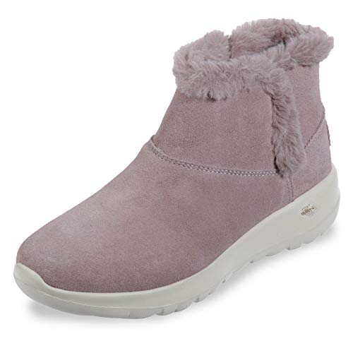 Skechers On The GO Joy Bundle Up Womens Ankle Boots Lilac 7 Pink