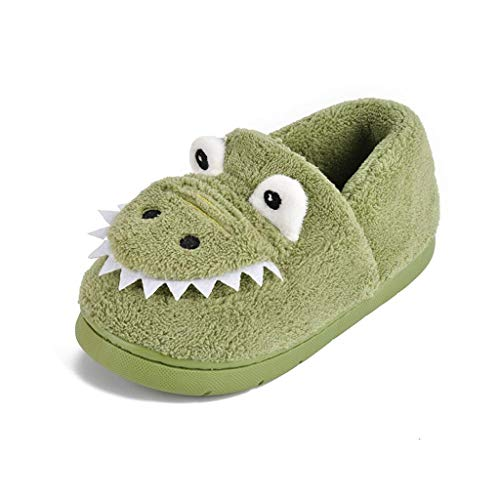 SHYPT Zapatillas para niños Zapatillas para niños Softler Soft Shoes Lindos Zapatillas de Dinosaurio Bebé Invierno Zapatos Nacional Zapatos para niños (Color : B, Size : 17)