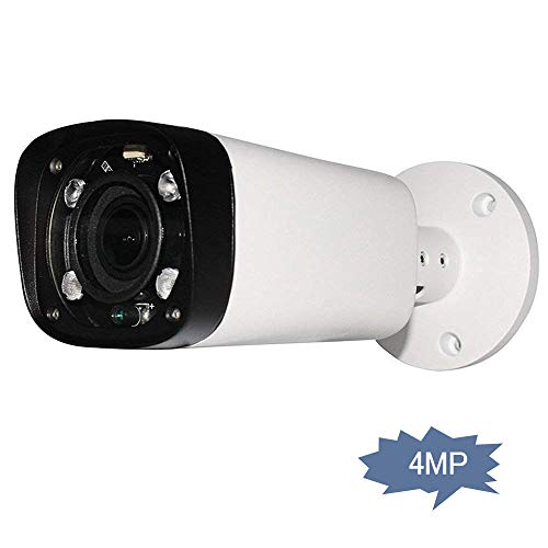 4MP Outdoor Bullet Network IP Camera, IPC-HFW4431R-Z, PoE Security Camera with Lens 2.7-12mm Motorized Varifocal Zoom, IR Night Vision 80m, H.265+ WDR Onvif