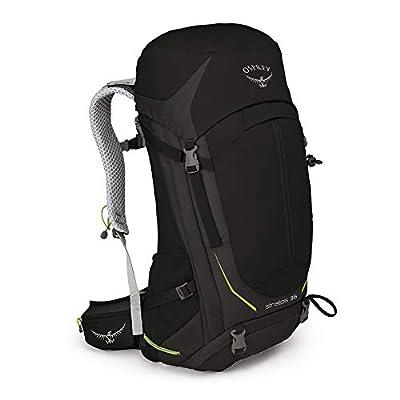 Osprey Stratos 36 Men's Hiking Backpack, Black, Medium/Large