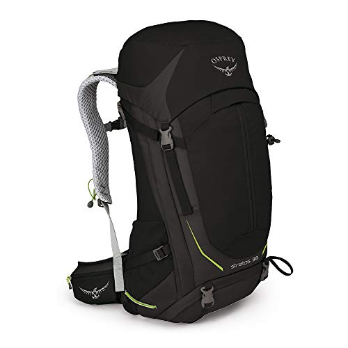 Osprey Stratos 36 Men's Hiking Backpack, Black, Medium/Large