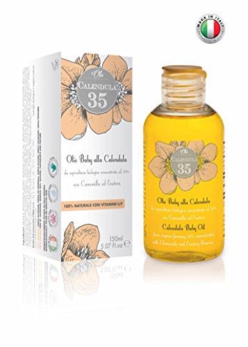 Dulàc - Calendula 35-100% NATURALE - Olio Corpo alla Calendula concentrata al 35% - Per bambini ed adulti - con Vitamine E ed F - 150ml
