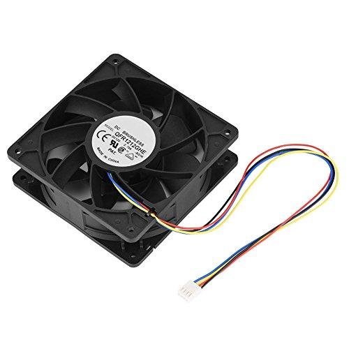 Ventilador,4 Pines DC 12V 6000RPM Disipador de Calor con 7 aspas del Ventilador,Ventilador de Repuesto para Antminer S7 S9, Ventilador de refrigeración de la CPU, Teniendo Ventilador