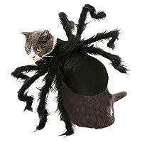 Xingsiyue ペットの犬猫ハロウィン服-シミュレーションスパイダーパピーパーティー面白い衣装毛皮のようなクモの足コスプレ衣装
