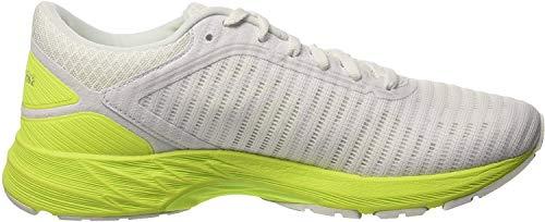 Asics Dynaflyte 2, Zapatillas de Entrenamiento para Mujer, Blanco (White/Safety Yellow/Aruba Blue 0107), 39 EU