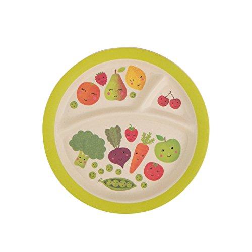 """Sweet """"Fruit and Vegetables"""" dinner plate, 21cm, dishwasher-safe, BPA-free."""