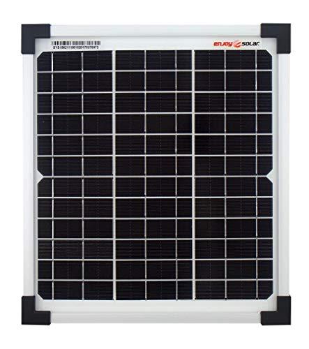 Módulo de panel solar monocristalino de enjoysolar®, 10 vatios, 12 V, ideal para el jardín o la caravana