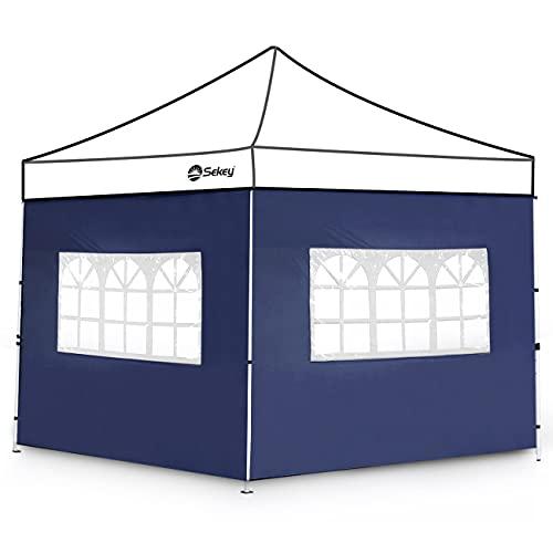 Sekey 2 Paneles Laterales con Ventana, Paredes Laterales para 3x3m Cenador Plegable Carpas de Jardin, Impermeables, Taupe