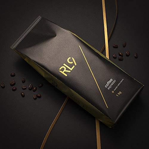 RL9 100% Arabica Kaffee Coffee 1 kg ganze Bohnen Kaffeebohnen Crema Espresso Premium Extra langsam geröstet (Espresso)