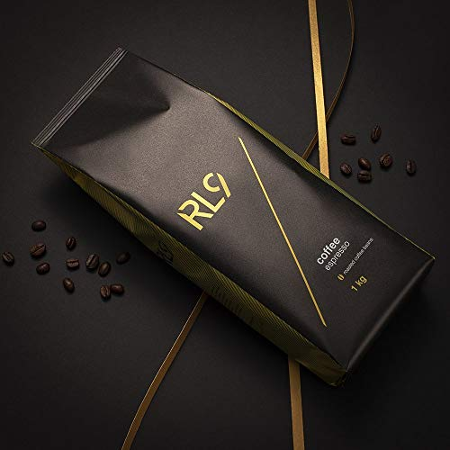 RL9 100% Arabica Kaffee Coffee 1kg by Robert Lewandowski ganze Bohnen Kaffeebohnen Premium Extra langsam geröstet Espresso