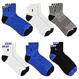 Polo Ralph Lauren 6-Pack P67 Logo Quarter Socks