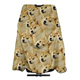 Barber Cape Dogecoin Gold Coin Meme Professional Salon Cape Polyester Haircut Apron Hairstylist Hairdressing Capes 55'' X 66''