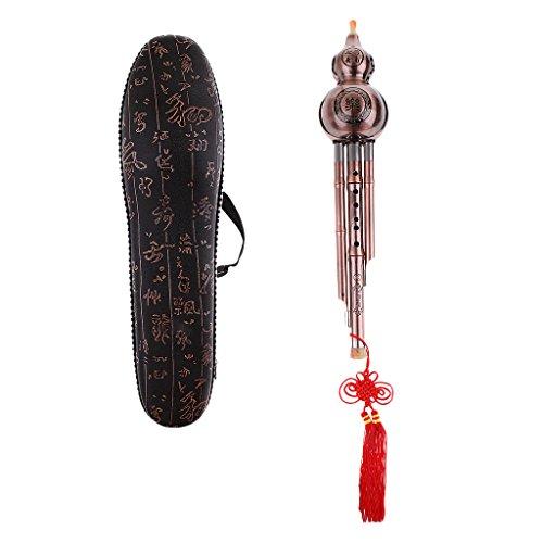Baoblaze C-Key Kupfer Hulusi Kürbisflasche Flöte Musikinstrument Chinesisch