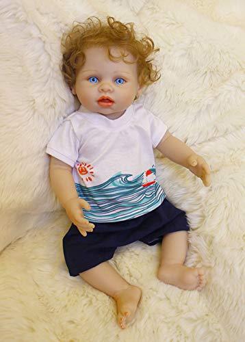 Bambole Reborn Maschio Corpo Intero in Silicone 45cm realistica Toddler Girl Femmina bambolotti Giocattolo Baby Doll