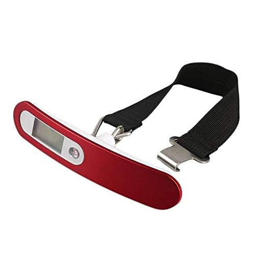 HJTLK Básculas de Bolsillo, balanza de Bolsa LCD Digital Básculas electrónicas de Mano para una Maleta de Viaje Peso Equipaje Balanza Pesadora Pesaje