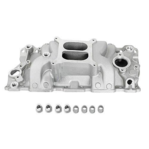 TYFYB Aluminum Satin Intake Manifold For Small Block Chevy SBC 305 327 350 400 1957-1986 1500-6500 RPM