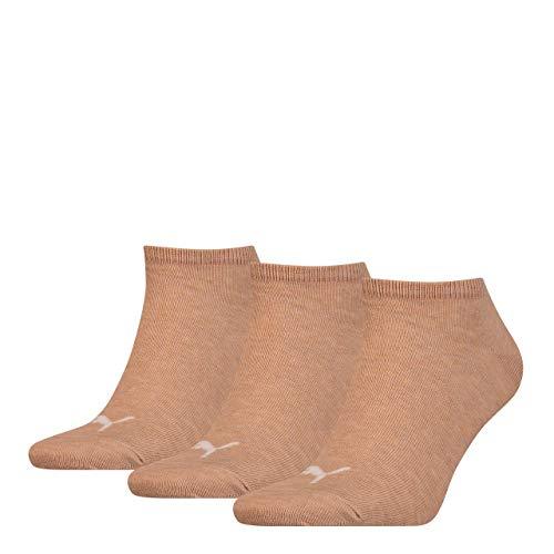 3 Paar Puma Sneaker Invisible Socken Gr. 35 - 49 Unisex für Damen Herren Füßlinge, Socken & Strümpfe:39-42, Farbe:050 - beige mélange