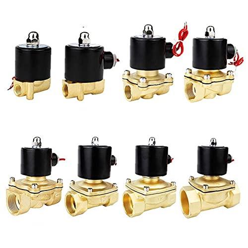 Válvula electromagnética eléctrica 1/4' 3/8' 1/2' 3/4' 1' DN8 / 10/15/20/25/50 normalmente cerrado neumático para agua Aceite de aire 12V 24V 220V 110V Equipo Industrial