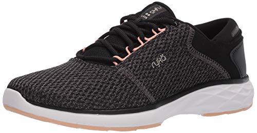 RYKA Women's Leia Walking Shoe Sneaker, Black, 11 US medium
