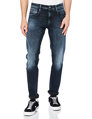 REPLAY Anbass Jeans, 007 Blu Scuro, 38W x 34L Uomo
