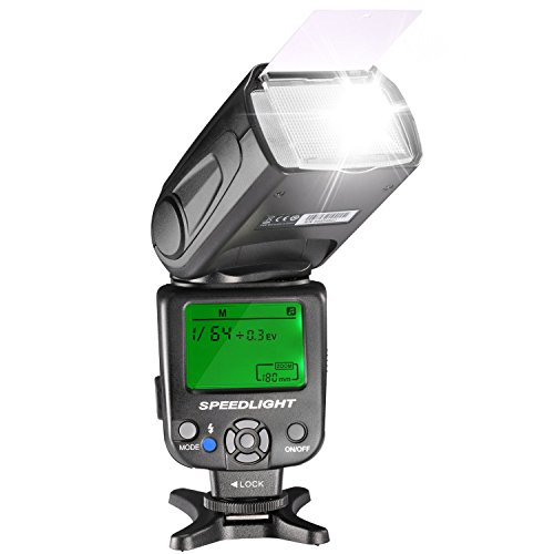 Neewer NW620(GN58) LCD Display Speedlite Flash for Canon Nikon Panasonic Olympus Pentax with Standard Hot Shoe and Sony Camera with New Mi Hot Shoe Like A7 A7S A7SII A7R A7RII A7II A6000 A6300 A6500