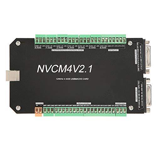Akozon Motion Control-Karte, NVCM 4-Achsen-CNC-Controller MACH3 USB-Schnittstellenkarte für Schrittmotor Ethernet-Schnittstelle Motion Control Card Board für CNC-Gravur