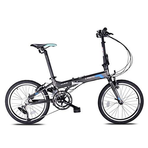 Bicicletas Triciclos Ocio For Adultos Estática For Estudiantes En El Parque Aleación De Aluminio De 20 Pulgadas For Estudiantes Adultos, Hombres Y Mujeres (Color : Black, Size : 20inch)
