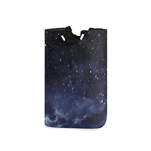 ZOMOY Multifunktionale Faltbarer Schmutzige Kleidung Wäschekorb,Ätherische Ansicht von Dark Sky Atmosphere Nebula Fantasy Cosmic Universe Theme,Household Wäschebox Spielzeug Organizer