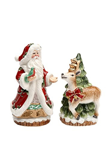 Cosmos Gifts Victorian Harvest Santa and Reindeer Salt and Pepper Set