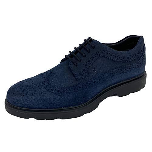 Hogan B86 Scarpa Uomo H393 Derby Calf Crosta Suede Blue Shoes Men [5.5]