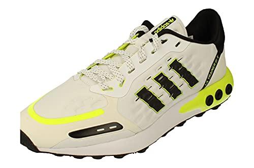 Adidas Originals LA Trainer III Hombre Running Sneakers (UK 10 US 10.5 EU 44 2/3, White Black Yellow FY3704)