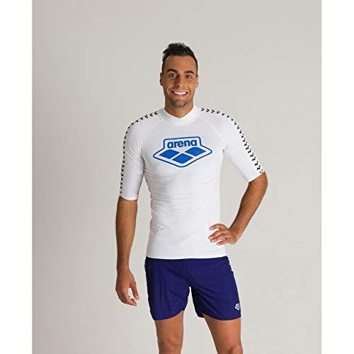 ARENA Herren Sonnenschutz Shirt Rash Icons Uv, White, L