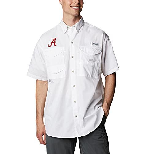 NCAA Alabama Crimson Tide Men's Bonehead Short Sleeve Shirt, Medium, ALA - White