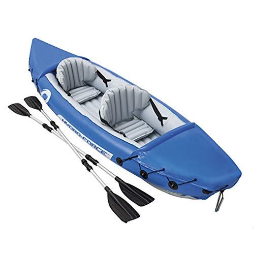 Set di gommoni da 2//3 Persone Set di Kayak gonfiabili con pagaie e Pompa a Pedale per Bambini Adulti Kayak Gonfiabile in Vinile Resistente per la Pesca e Altro