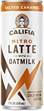 Califia Farms - Nitro Cold Brew Coffee, Oat Milk Latte - Salted Caramel - 7 Oz (12 Cans)   Shelf Stable   Iced Coffee On-the-Go   Clean Energy   Dairy Free   Gluten Free   Plant Based   Non-GMO