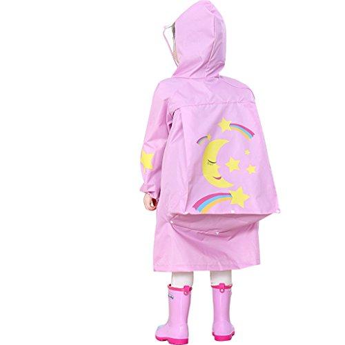 Kinder Poncho Regenponcho Regenjacke Regenmantel Regenpelerine Wasserdichtmit Schule Rucksack Position, 6-10 Jahre