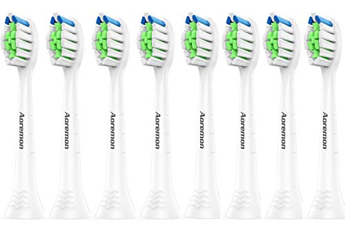 Aoremon Replacement Toothbrush Heads Compatible with Philips Sonicare DiamondClean HX6064/63(8PCS), Replacement brush heads Compatible with Sonicare Electric Toothbrush