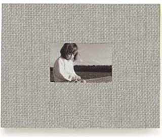 NEWPORT postbound PLATINUM-GREY/black cloth 11x14 album by Kolo - 11x14