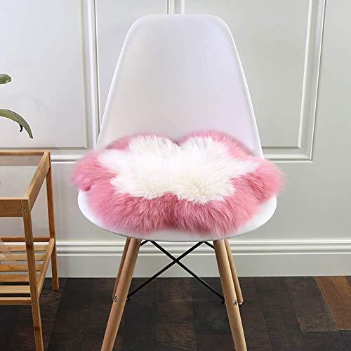 Wool booster stoel kussen zitkussen, pluizige winter tapijt zachte universele schapenvacht auto stoel cover office stoel kussen bank bekleding erker kussen