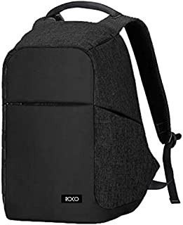ROCO USB Backpack/Gragon Fabric, 18 inch BLACK