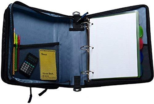 Case-it Universal 2-Inch 3-Ring Zipper Binder, Holds 13 Inch Laptop, Blue, LT-007-BLU