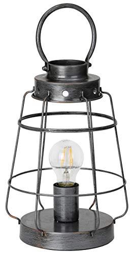 BRUBAKER Lámpara sobremesa vintage - altura 31 cm