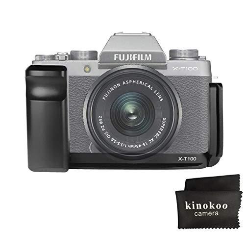 Soporte Kinokoo para Fujifilm X-T100 Quick Release L-Plate XT100 Grip