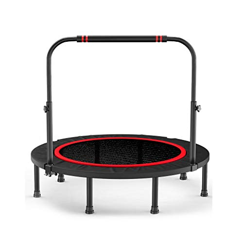 Mini Trampoline, Foldable Backboard Trampoline, With Handrails And Edge Covering Fitness Trampoline Adult Children Indoor/outdoor Home Fitness Equipment
