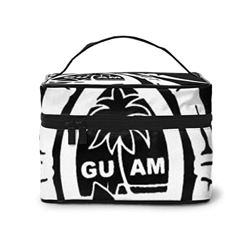 Guam Seal in A Tribal Turtle Travel Makeup Train Case Makeup Cosmetic Case Organizer Portable Storage Bag