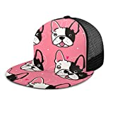 Zhgrong Caras Lindas del Perro del Dogo francés con la Gorra de béisbol Hombres Mujeres - Sombrero Liso Ajustable clásico