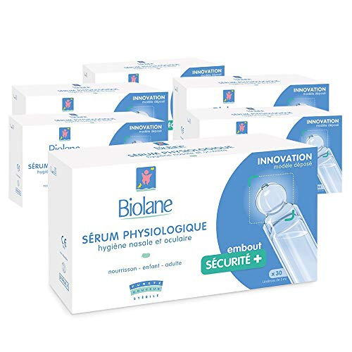 Biolane – Sérum Physiologique – Pour nettoyer le nez ou les yeux du bébé en toute sécurité...
