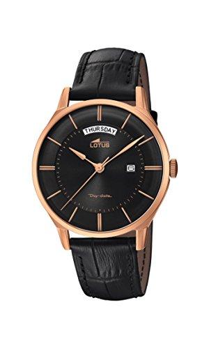 Lotus Watches Reloj Análogo clásico para Hombre de Cuarzo con Correa en Cuero 18422/2
