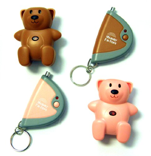 Mommy I'm Here CL-103PK/BR2pak Teddy Bear Remote Child Locator, 2-Pack, One Pink and One Brown